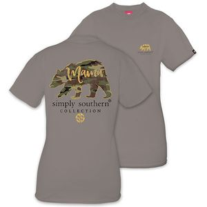Camo Mama Bear Short Sleeve Tee by Simply Southern