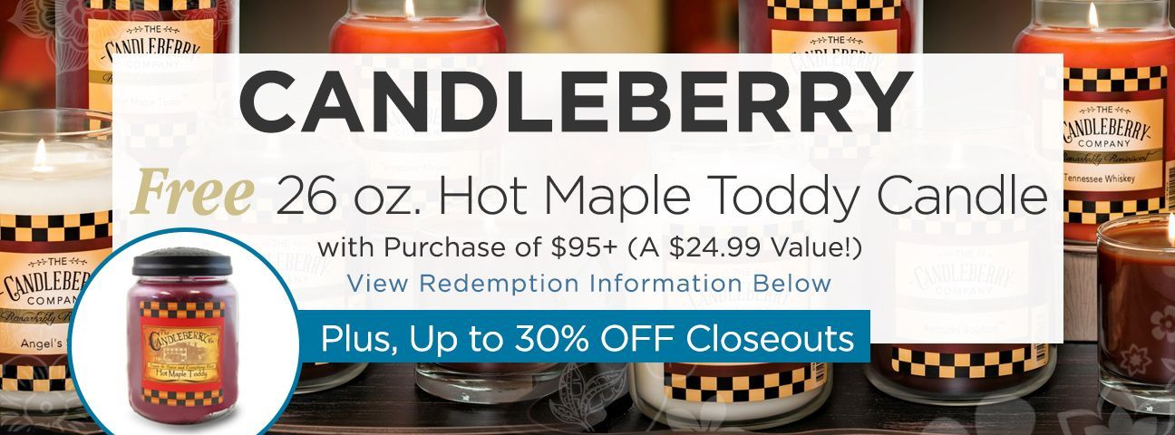 Candleberry Candle Closeouts
