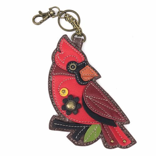 Cardinal Key Fob and Coin Purse by Chala