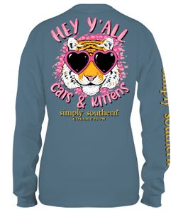 Cats & Kittens Stone Long Sleeve Tee by Simply Southern