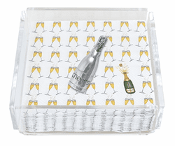 Champagne Clear Acrylic Cocktail Napkin Box by Mariposa