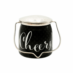 Cheers! (Celebrate) Jar 16 oz. Sentiments Special Edition Wrapped Butter Jar by Milkhouse Candle Creamery