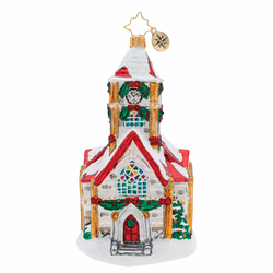 Christmas Chapel Ornament by Christopher Radko