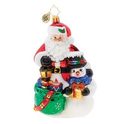 Christmas Delivery Duo Ornament by Christopher Radko