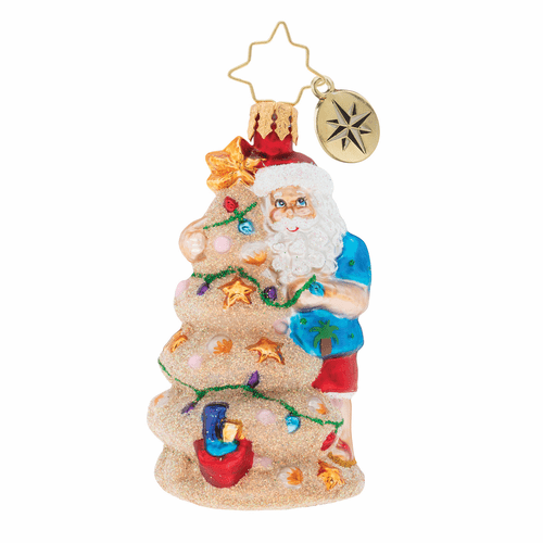 Christmas In The Sand Gem Ornament by Christopher Radko