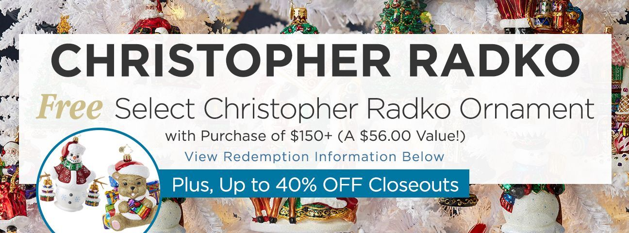 Gift with Purchase Christopher Radko Ornaments