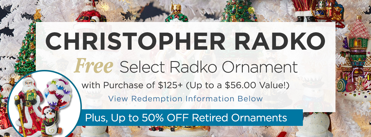 Christopher Radko Ornaments | Lowest Prices, Free Shipping