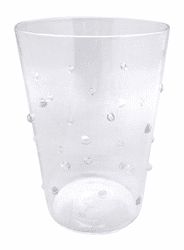 Clear Dotty Double Old Fashioned Glass by Mariposa