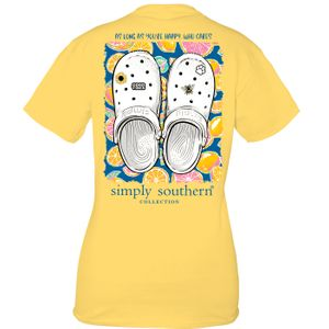 Clogs Sunflower Short Sleeve Tee by Simply Southern