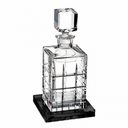Cluin Square Decanter with Marble Coaster by Waterford