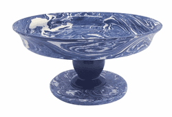 Cobalt Marble Ceramic Small Cookie Stand by Mariposa