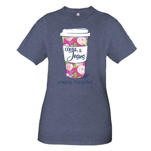 Coffee & Jesus Simply Faithful Short Sleeve Tee by Simply Southern