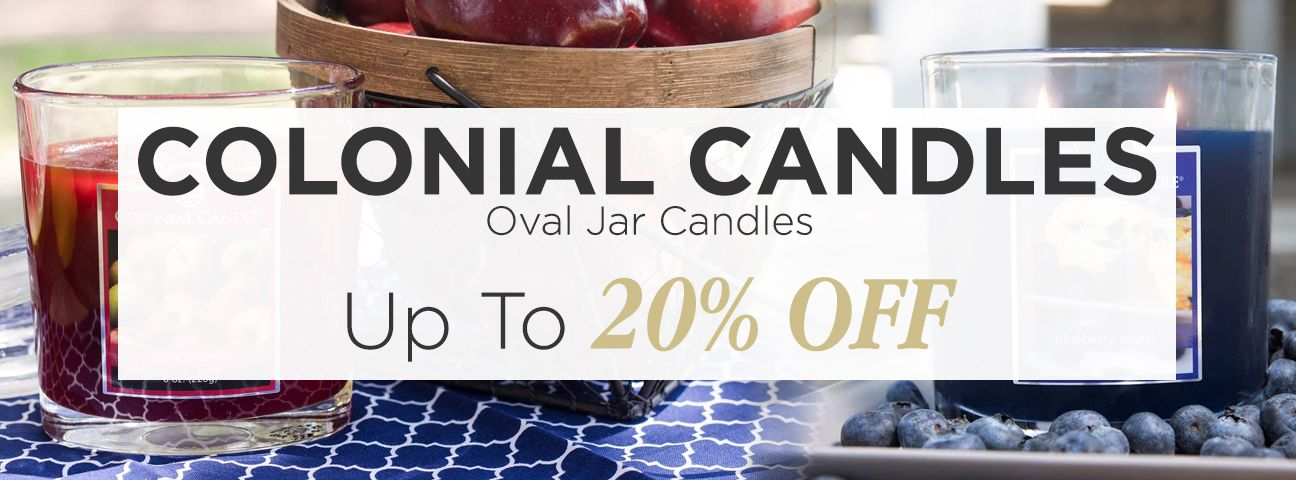 Colonial Candle Oval Jars - 22 oz.