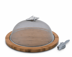 Conch Shell Picnic Cheese Board / Spreader by Arthur Court