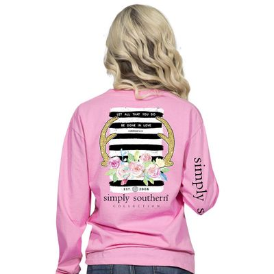 Corinthians Flamingo Long Sleeve Tee by Simply Southern