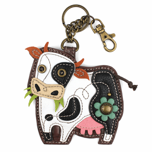 Cow Key Fob and Coin Purse by Chala