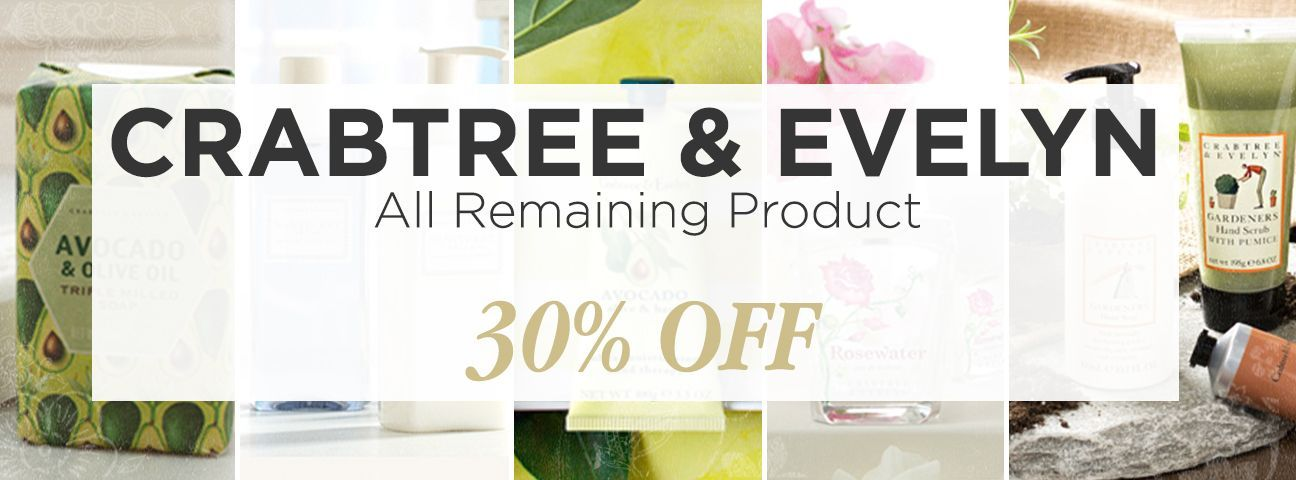 Crabtree & Evelyn Closeouts & Retired Styles