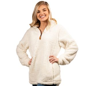 Cream Sherpa Pullover by Simply Southern