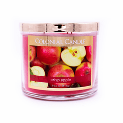 Crisp Apple 14.5 oz. Bronze Collection Colonial Candle