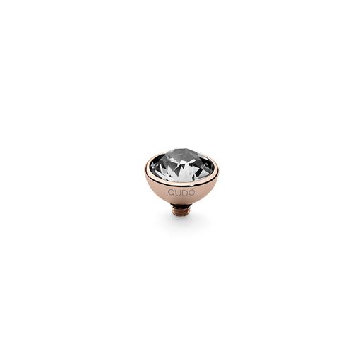 Crystal 10mm Rose Gold Interchangeable Top by Qudo Jewelry
