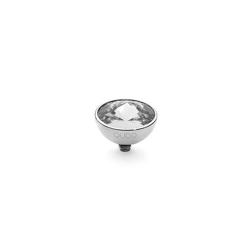 Crystal 11.5mm Silver Interchangeable Top by Qudo Jewelry