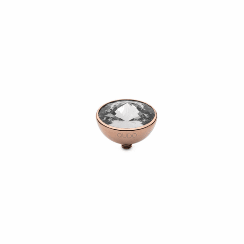 Crystal 13mm Rose Gold Interchangeable Top by Qudo Jewelry