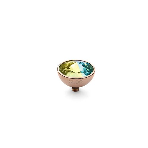Crystal AB 11.5mm Rose Gold Interchangeable Top by Qudo Jewelry