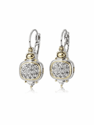 Cubic Zirconia Nouveau French Wire Earrings by John Medeiros - Special Order