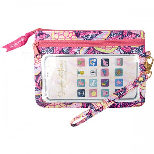 Dance Turtle Phone Wristlet by Simply Southern