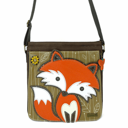 Dark Brown Fox Deluxe Messenger Bag by Chala