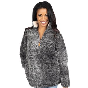 Dark Gray Sherpa Pullover by Simply Southern