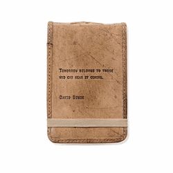 David Bowie Mini Leather Journal by Sugarboo Designs