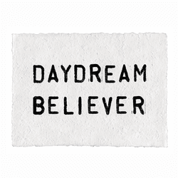 Daydream Believer Handmade Paper Print by Sugarboo Designs - Special Order