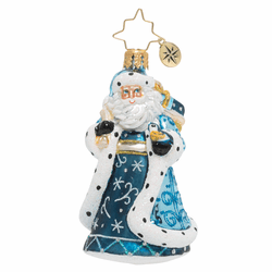 Debonair Winter Santa Gem Ornament by Christopher Radko - Special Order (Available February 2020)