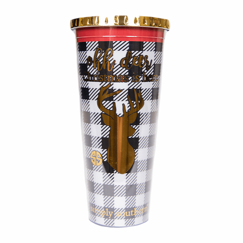 Deer Plastic Tumbler by Simply Southern