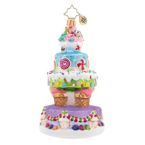 Deliciously Delightful Cake Ornament by Christopher Radko