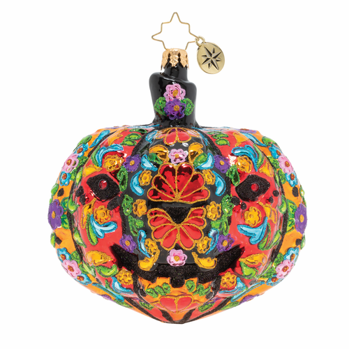 Dia De Los Muertos Pumpkin Ornament by Christopher Radko