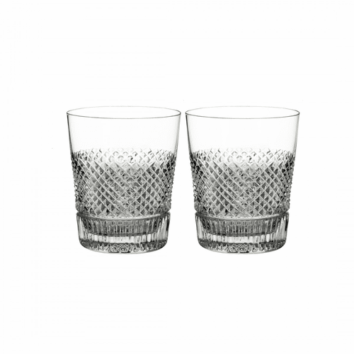 Diamond Line Double Old Fashioned Pair by Waterford