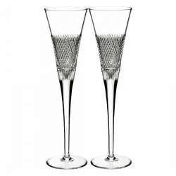 Diamond Line Flute Pair by Waterford