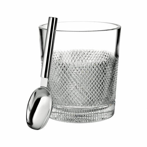 Diamond Line Ice Bucket with Scoop by Waterford