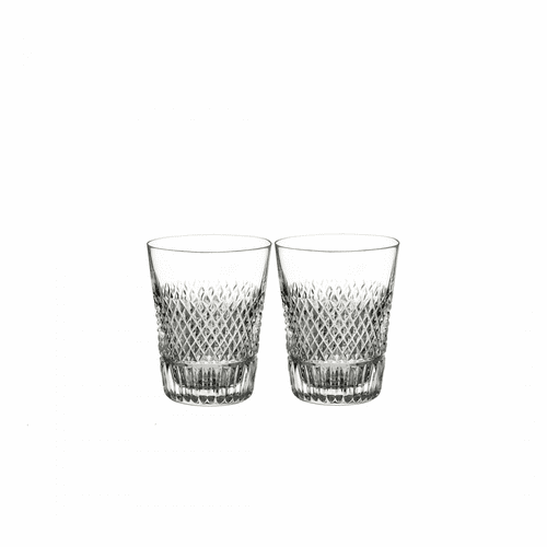 Diamond Line Shot Glass Pair by Waterford