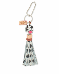 Dog with Polka Dots Tassle Charm by Consuela