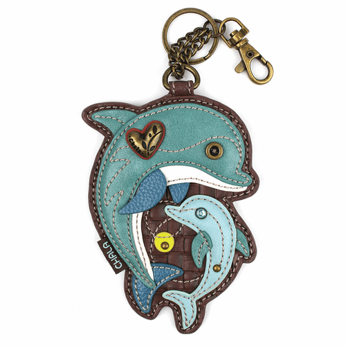 Dolphin Key Fob and Coin Purse by Chala