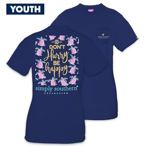 Don't Hurry Be Happy YOUTH Short Sleeve Tee by Simply Southern