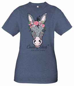 Donkey Denim Country Chick Short Sleeve Tee by Simply Southern