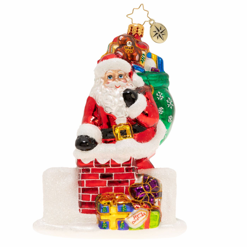 Down The Hatch Santa Ornament by Christopher Radko