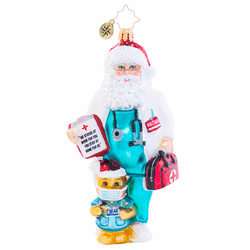 Dr. Claus Cares Ornament by Christopher Radko (Ships Fall 2020)