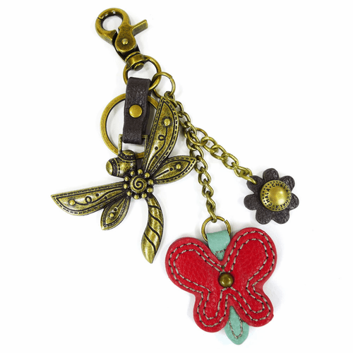 Dragonfly & Butterfly Charming Key Chain by Chala