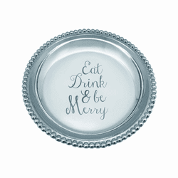 Eat Drink & Be Merry Beaded Trinket Dish by Mariposa