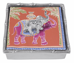 Elephant Bamboo Napkin Box by Mariposa
